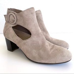 Earth Shoes Corinth Taupe Leather Ankle Boots
